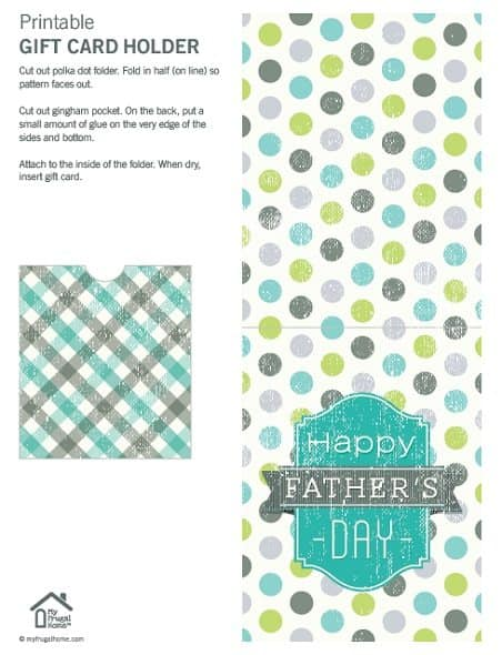 Polka Dot Father's Day Gift Card Holder