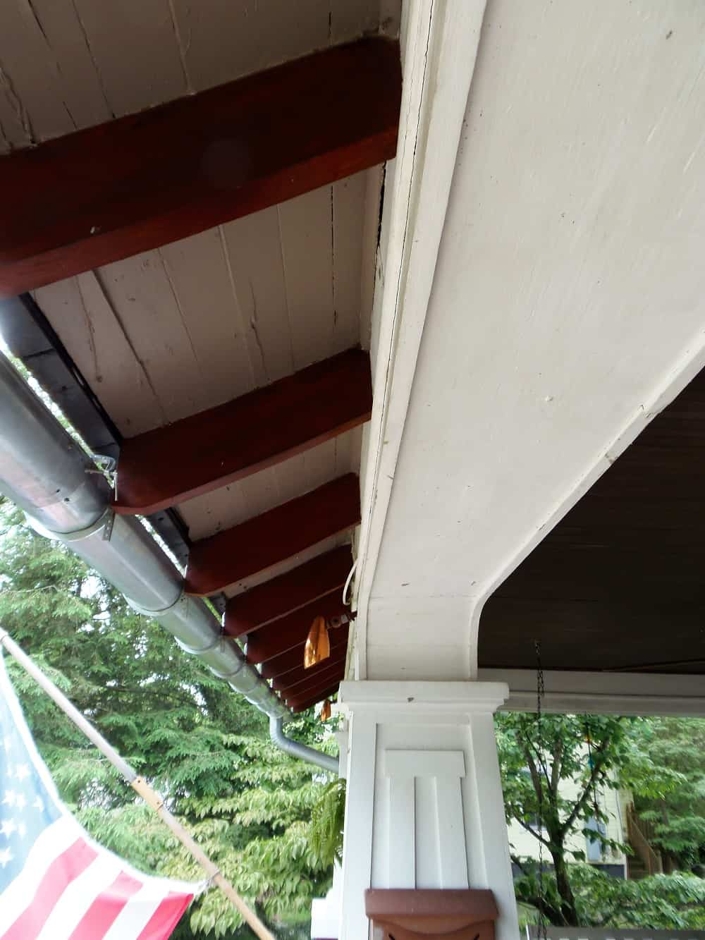 Stained Porch Rafter Tails