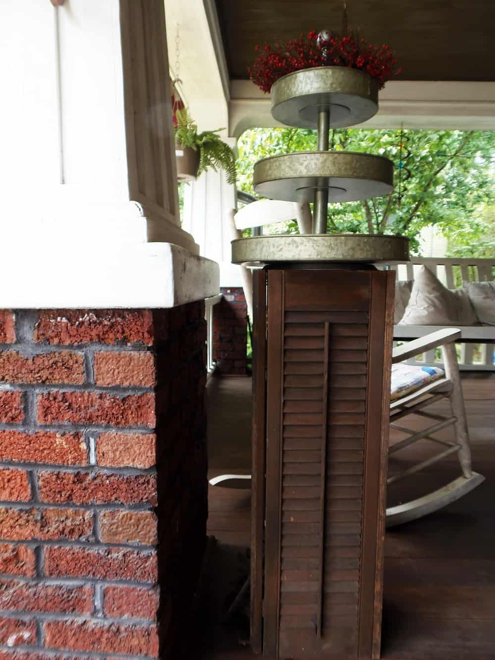 Pedestal Made Out of Shutters