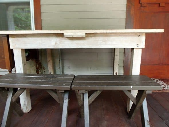 Small Farm Table and Benches