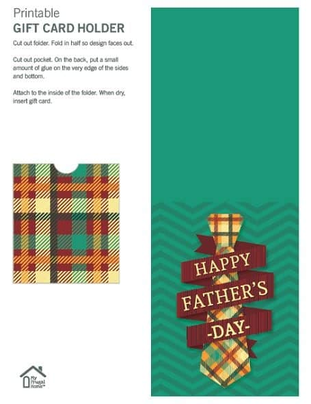 Tie Father's Day Giift Card Holder
