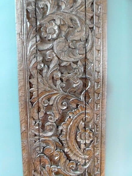 Carved Wood Art Closeup