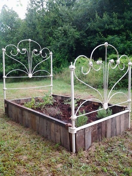 Cast Iron Bed Raised Bed - Side View