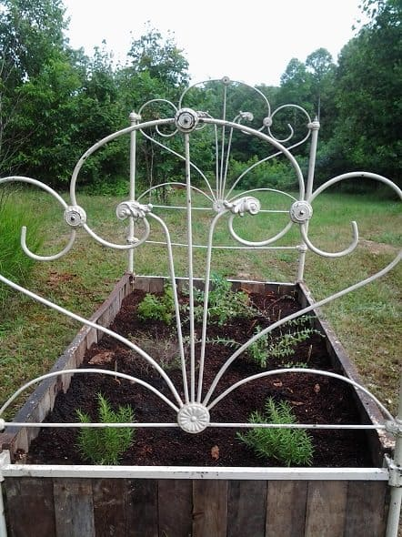 Cast Iron Raised Bed Close Up