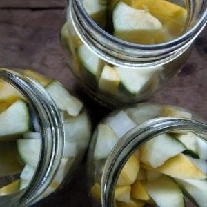 Pack Summer Squash in Jars