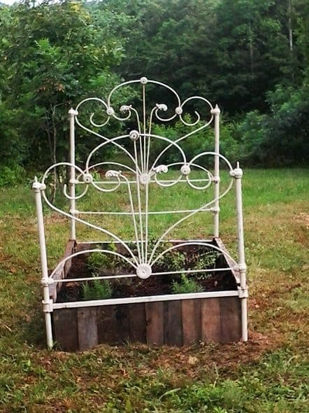 Raised Bed Made Out of Cast Iron Bed