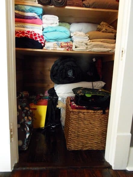 Bottom of Linen Closet