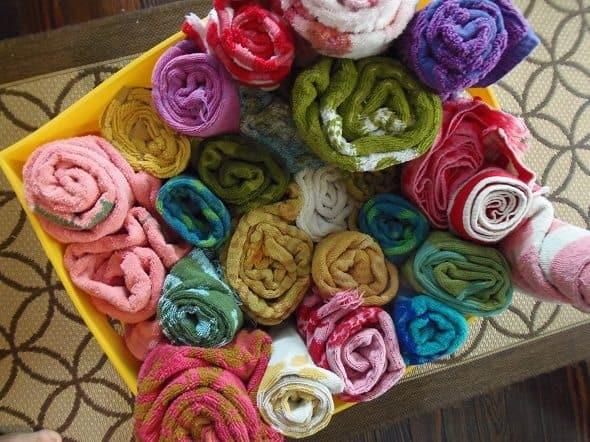 Colorful Vintage Towels
