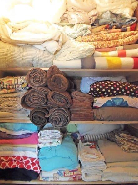 Inside of Linen Closet