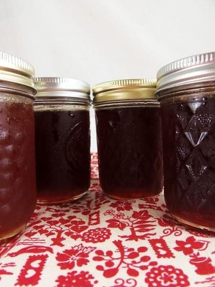 Jars of Crabapple Jelly