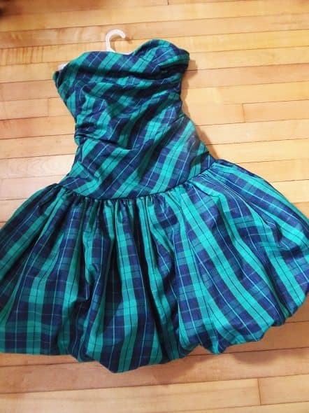 Plaid Semi-Formal Dress