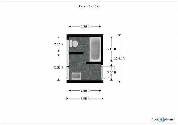 Bathroom Floor Plan - Before