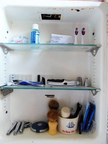 Inside of Medicine Cabinet