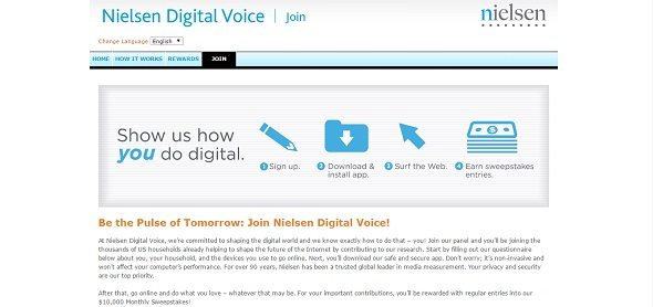 Nielsen Digital Voice Screen Shot