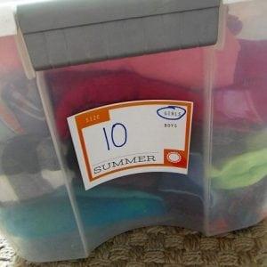 Printable Kids' Clothing Storage Bin Labels