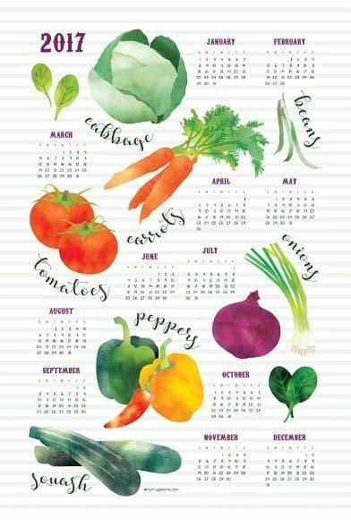 2017 Veggie Tea Towel Calendar