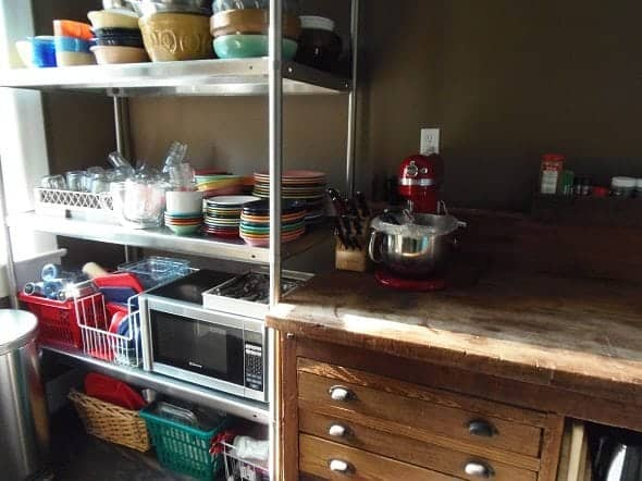 Kitchen Shelf and Workbench