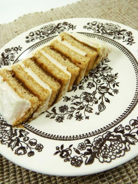 Slice of Pumpkin Icebox Cake