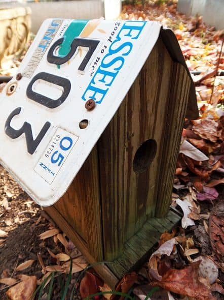 License Plate Bird House