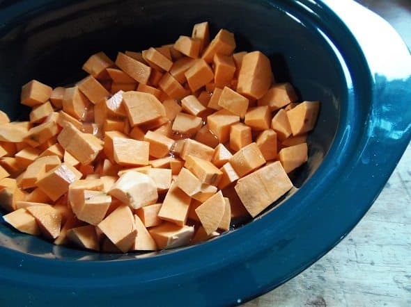 Place Sweet Potatoes in Crockpot