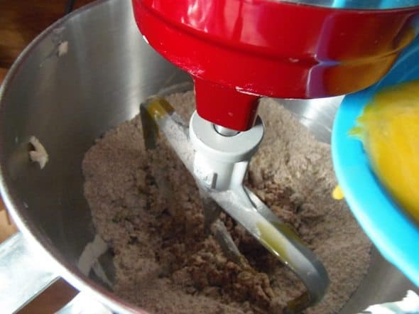 Add Egg Mixture to Cake Mix
