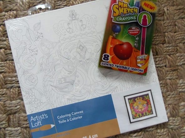 Canvas and Scented Crayons