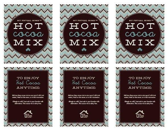 Printable Cocoa Mix Labels