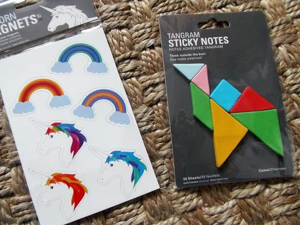 Unicorn Magnets and Sticky Notes