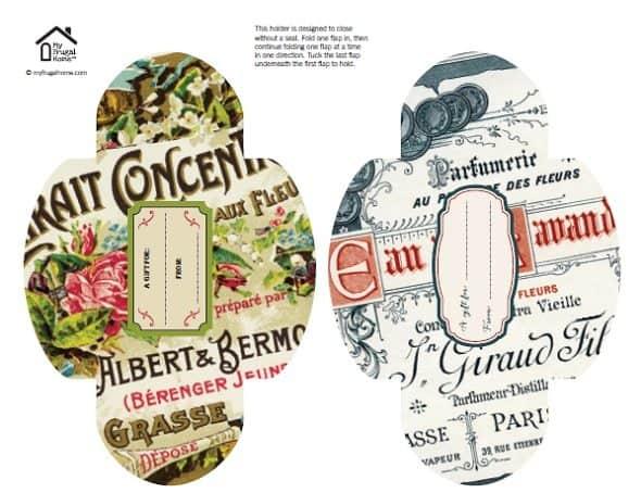 Vintage Gift Card Holders Printable