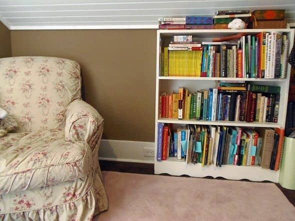 Bookshelf and Armchair