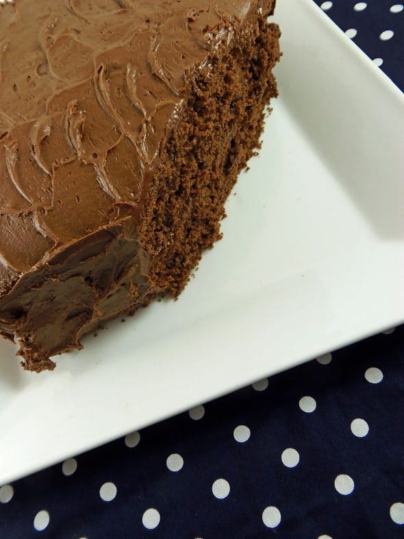 Devil's Food Cake Closeup