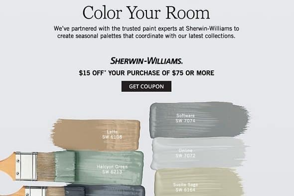 Pottery Barn Paint Coupon