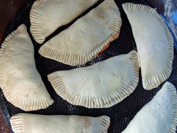 Fold and Seal the Calzones