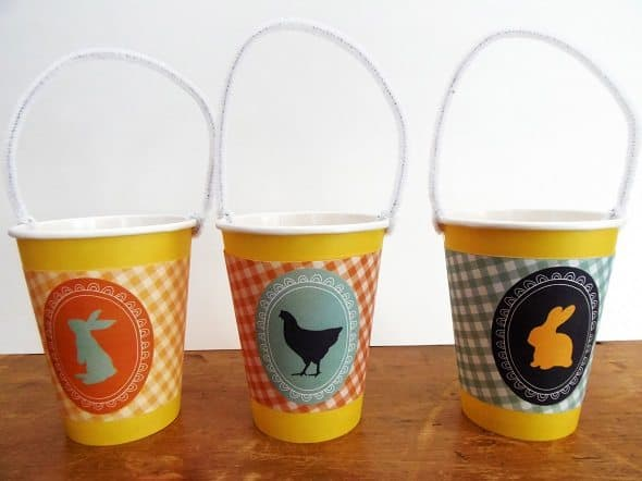 Paper Cup Easter Baskets