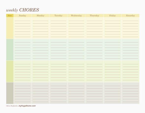 Multi-Person Chore Chart