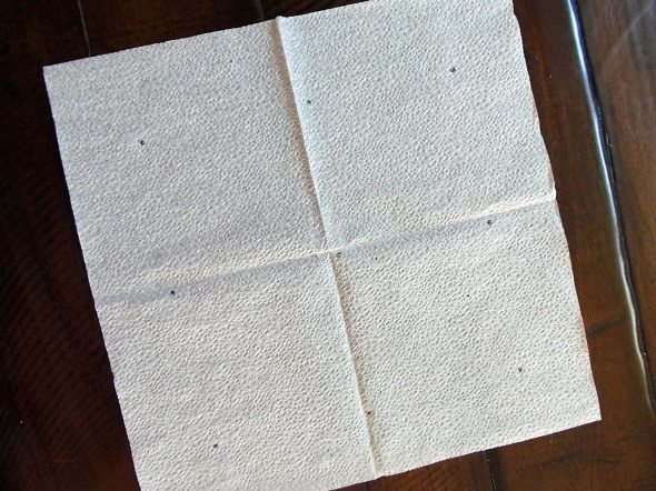 Mark Spacing on Napkin