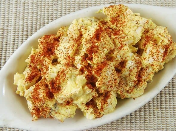 Sprinkle Paprika on Deviled Egg Salad