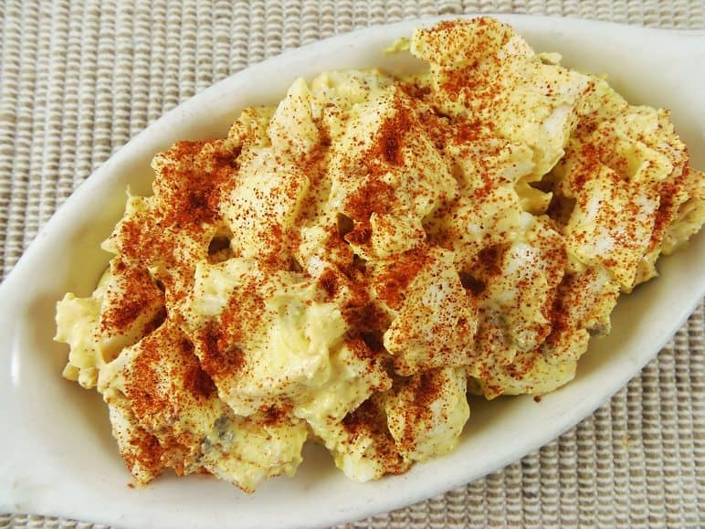 Deviled Egg Salad Sprinkled with Paprika