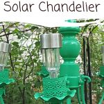Homemade Solar Chandelier