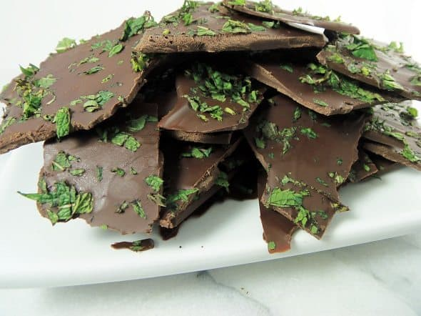 Plate of Fresh Peppermint Bark