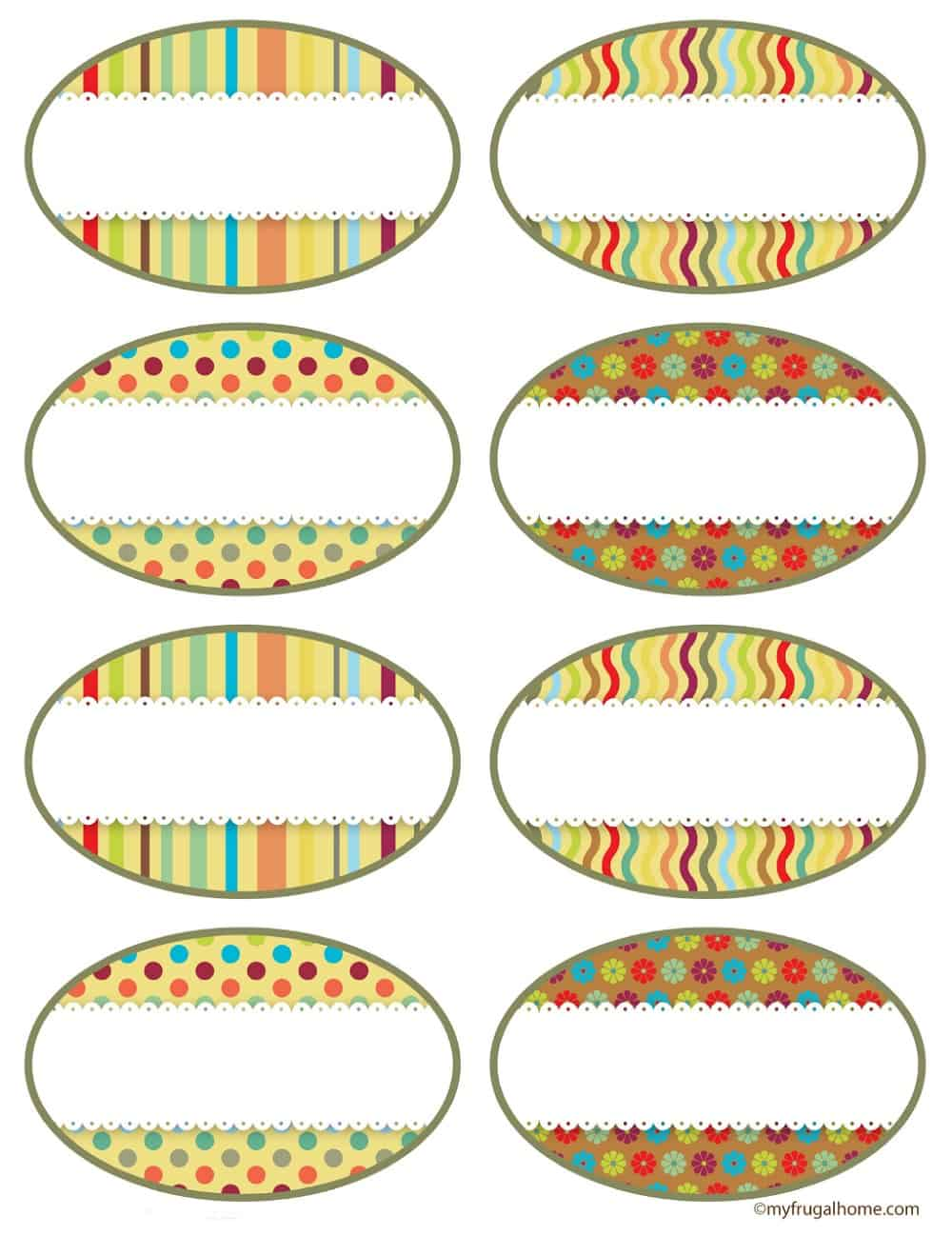 Rainbow Canning Jar Labels - Fronts
