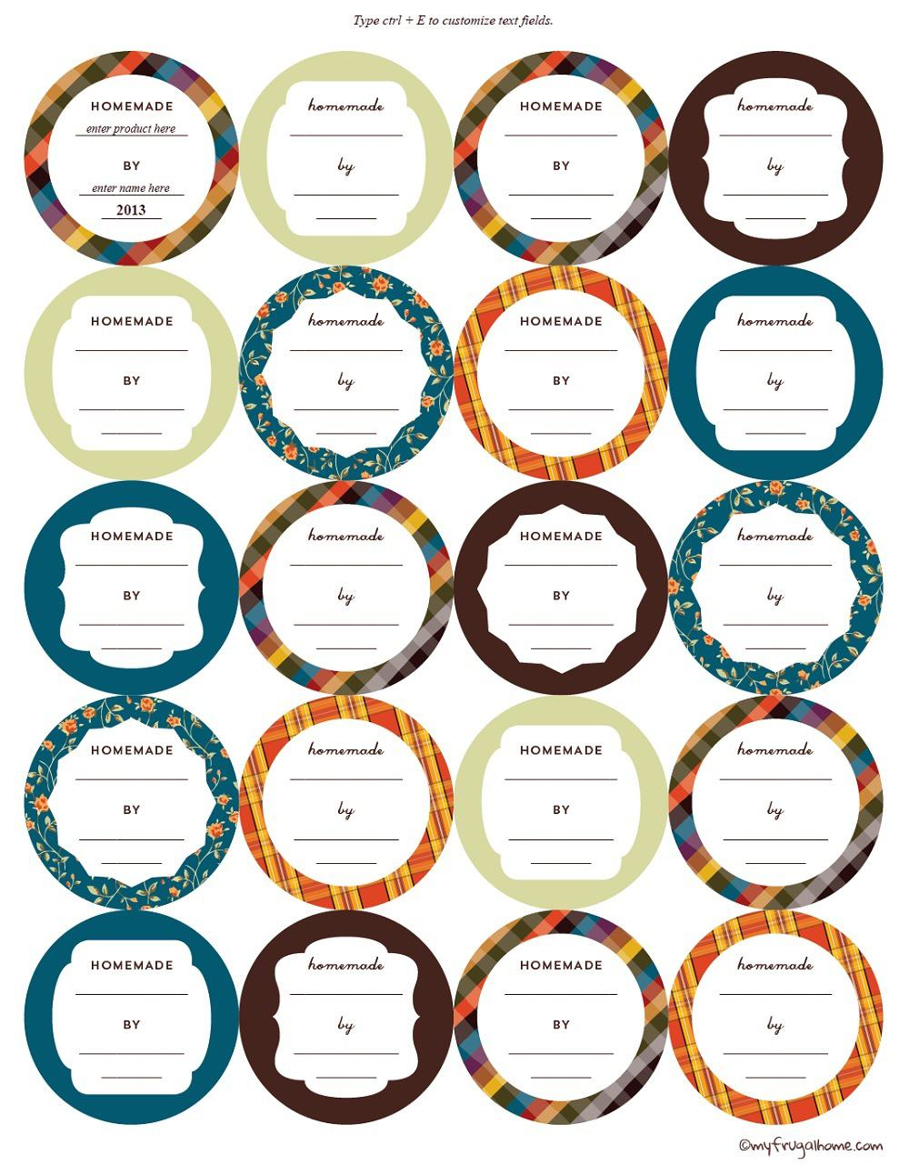 picture about Printable Jar Labels titled Printable Canning Jar Labels