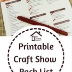Printable Craft Show Pack List