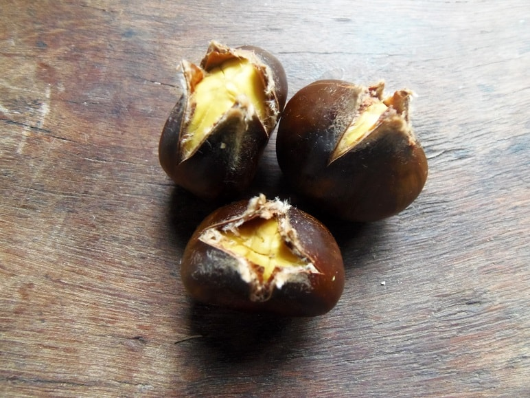 Microwaved Chestnuts