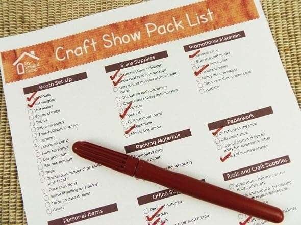 What to Pack for a Craft Show