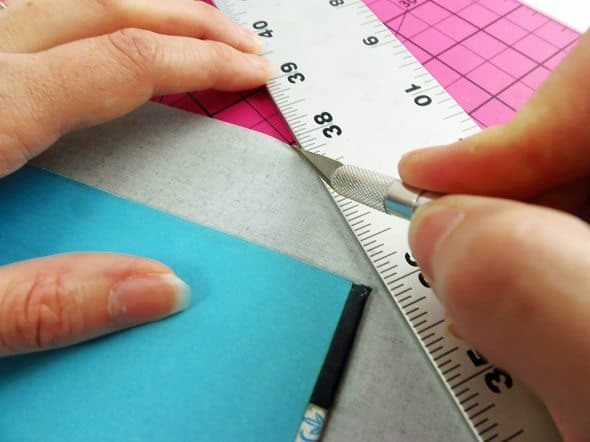 Trim the Corners of the Binding Tape