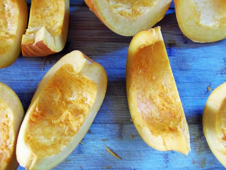 Pumpkin Cut Into Wedges