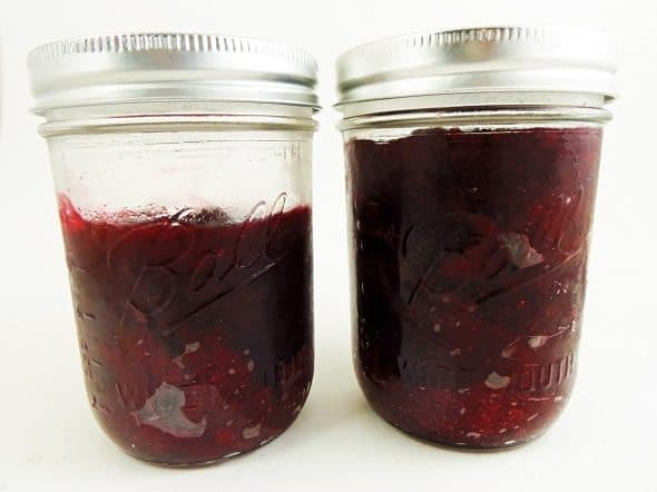 Jars of Homemade Jellied Cranberry Sauce
