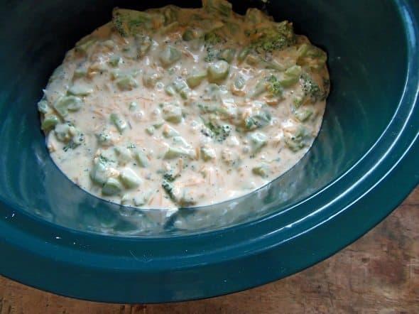 Place Broccoli Casserole in Crockpot
