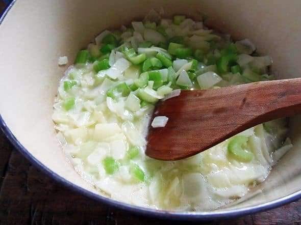 Sautee the Onions and Celery